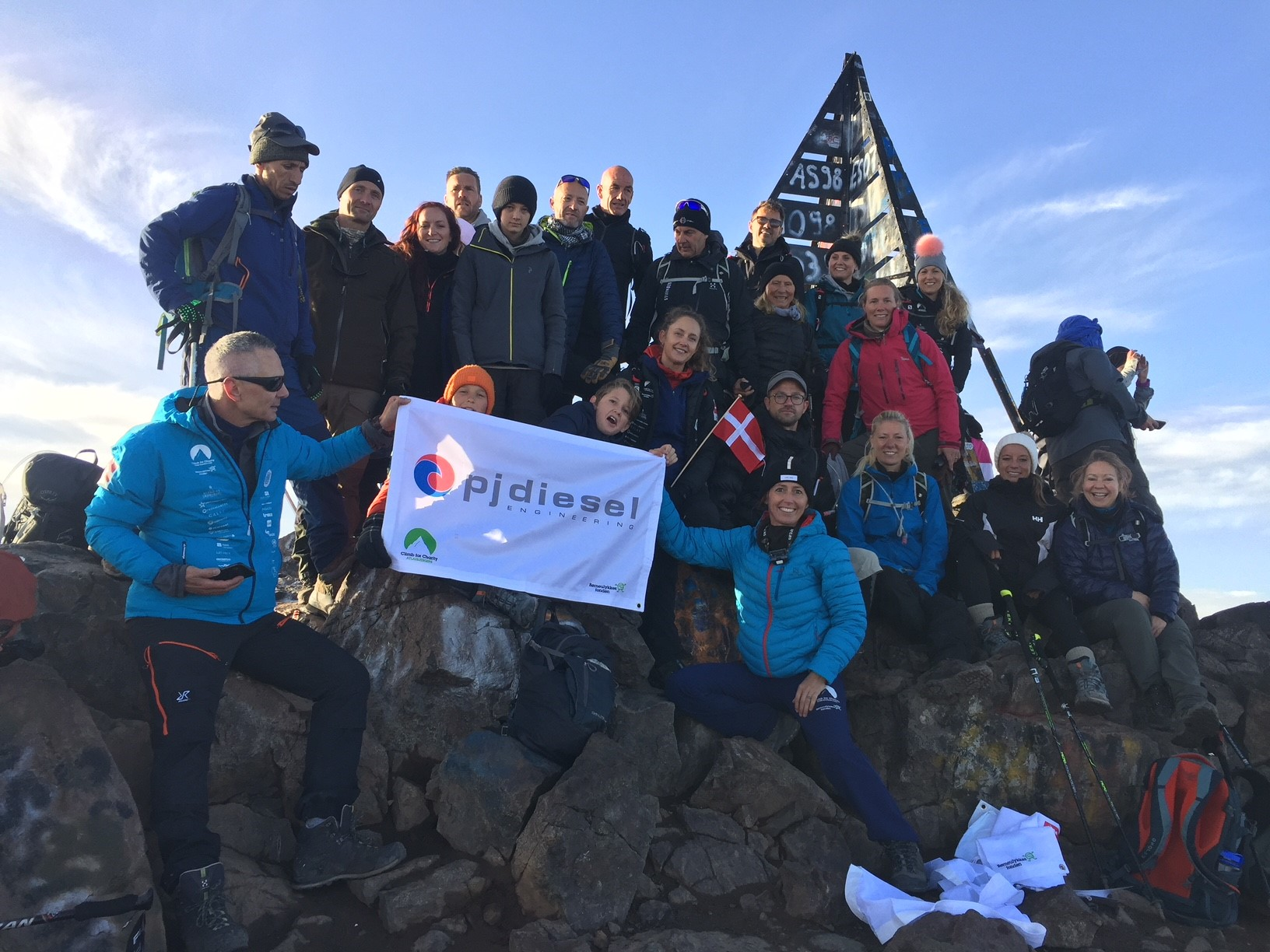 PJ Diesel proudly supporting climbing, and reach new mountain top