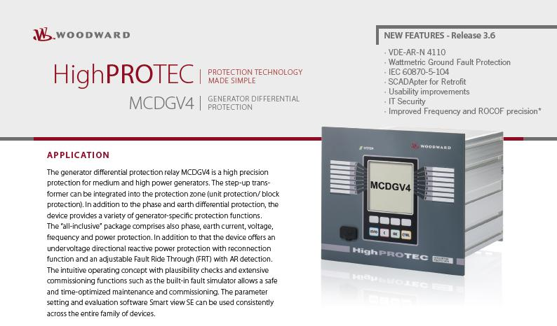 Woodward HighPROTEC 3.6 product