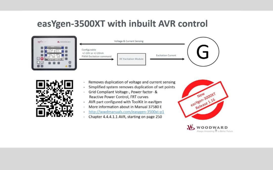 easYgen-3500XT with inbuilt AVR control