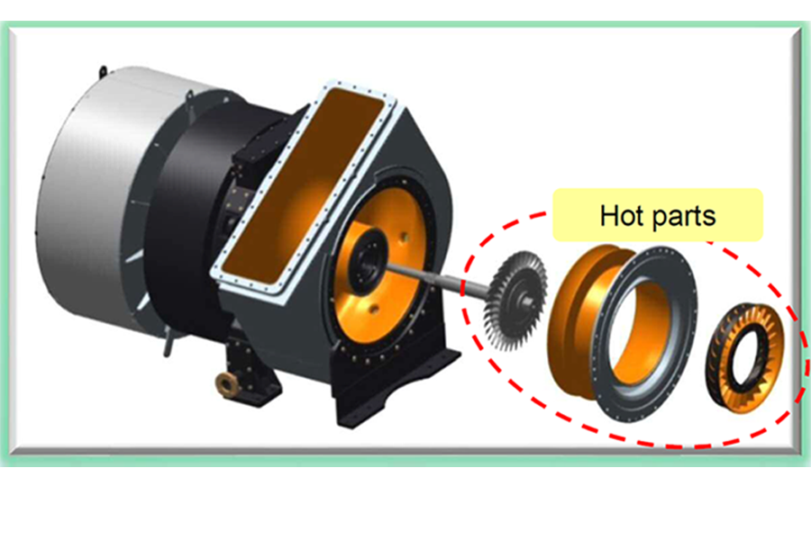 Recommendation of inspection/replacement of hot parts in axial Turbocharger